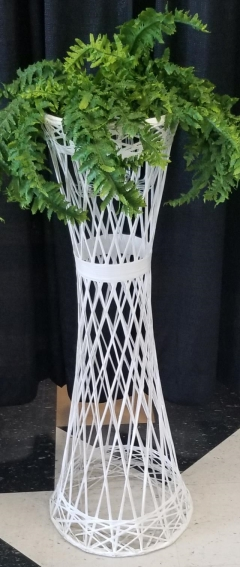 Rental store for WHITE WICKER FLOWER STAND 40  TALL in Johnson City TN