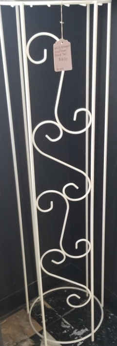 Rental store for WHITE WROUGHT IRON FLOWER STAND 36  TAL in Johnson City TN