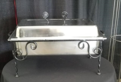 Rental store for WROUGHT IRON CHAFER RECTANGULAR   7QT in Johnson City TN