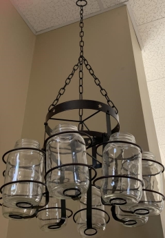 Rental store for MASON JAR CHANDELIER W  8 JARS   CHAIN L in Johnson City TN