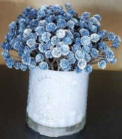 Rental store for SMALL BLUE GLASS VASE W  BLUE FLOWERS in Johnson City TN