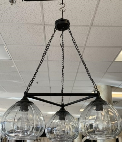 Rental store for BLACK WROUGHT IRON 3 LIGHT CHANDELIER in Johnson City TN
