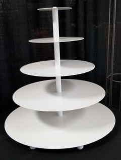 Rental store for 5 TIER ROUND WHITE CUPCAKE STAND in Johnson City TN