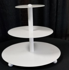 Rental store for 3 TIER WHITE ROUND CUPCAKE STAND in Johnson City TN