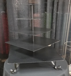 Rental store for 5 TIER BLACK SQUARE CUPCAKE STAND in Johnson City TN