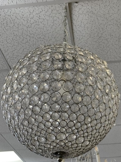 Rental store for ROUND BEADED CRYSTAL CHANDALIER in Johnson City TN