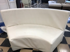 Rental store for CURVE SOFA LEATHER   WHITE in Johnson City TN
