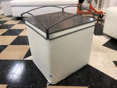 Rental store for SQUARE STOOL WITH TRAY   WHITE   LEATHER in Johnson City TN