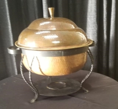 Rental store for COPPER CHAFER ROUND  8qt  W HANDLES in Johnson City TN
