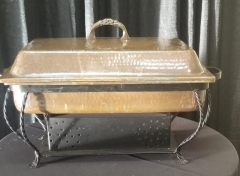 Rental store for COPPER CHAFING DISH 7QT RECTAN W  HANDLE in Johnson City TN