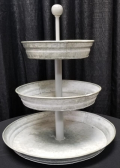 Rental store for 3 TIER GALVANIZED CUPCAKE STAND BALL HAN in Johnson City TN