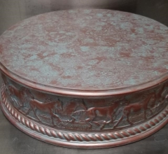 Rental store for 18  ROUND COPPER HORSE CAKE STAND in Johnson City TN