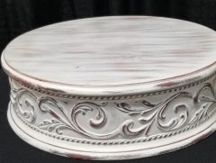 Rental store for 17  ROUND WHITE MOTIF CAKE STAND in Johnson City TN