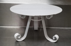 Rental store for 12  X 8  ROUND WHITE PEDESTAL CAKE STAND in Johnson City TN
