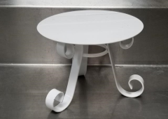 Rental store for 10  X 8  ROUND WHITE PEDESTAL CAKE STAND in Johnson City TN