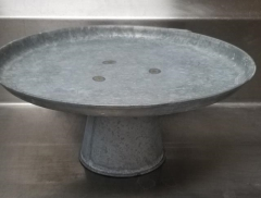 Rental store for GALVANIZED PEDESTAL CAKE STAND 16 X 7 in Johnson City TN
