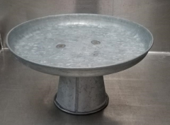 Rental store for GALVANIZED PEDESTAL CAKE STAND 12 X 6.25 in Johnson City TN