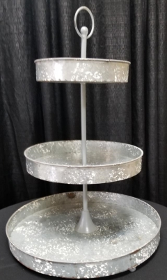 Rental store for 3 TIER GALVANIZED ROUND HANDLE STAND in Johnson City TN