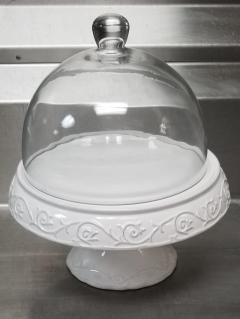 Rental store for 12  SHABBY CHIC CAKE PLATE W  GLASS DOME in Johnson City TN