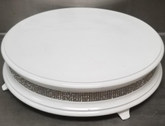 Rental store for 18  ROUND WHITE DIAMOND CAKE STAND in Johnson City TN