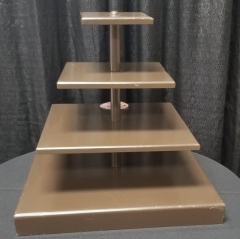 Rental store for 4 TIER BROWN SQUARE CUPCAKE STAND in Johnson City TN