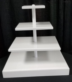 Rental store for 4 TIER WHITE SQUARE CUPCAKE STAND in Johnson City TN