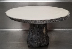 Rental store for 12  X 7  ROUND RUSTIC LOG PEDISTAL CAKE in Johnson City TN