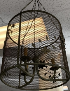 Rental store for VINTAGE METAL MESH W  FLOWERS CHANDELIER in Johnson City TN