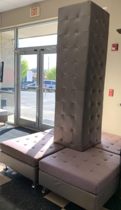 Rental store for SILVER TALL SQUARE TOWER SOFA in Johnson City TN