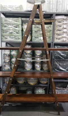 Rental store for SHABBY CHIC BROWN LADDER WITH 3 SHELVES in Johnson City TN