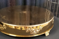 Rental store for 18  GOLD CAKE STAND ROUND in Johnson City TN