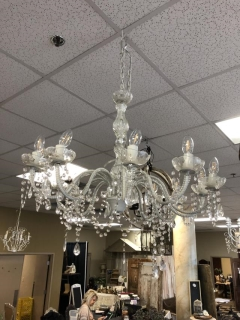 Rental store for WHITE LARGE CRYSTAL CHANDELIER in Johnson City TN