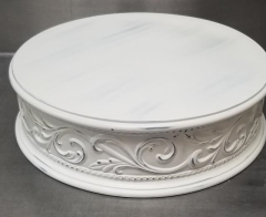 Rental store for 17  ROUND IVORY MOTIF CAKE STAND in Johnson City TN