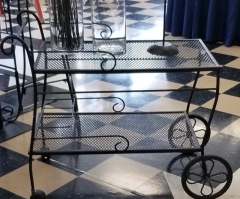 Rental store for BLACK WROUGHT IRON CART in Johnson City TN