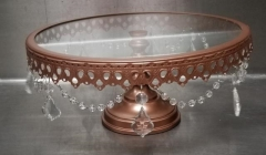 Rental store for 11  ROUND VICTORIA ROSE GOLD CAKE STAND in Johnson City TN