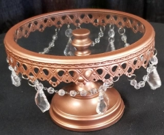 Rental store for 7  ROUND VICTORIA ROSE GOLD CAKE STAND in Johnson City TN