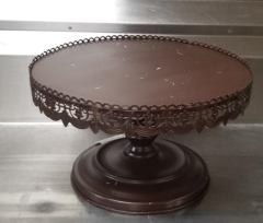 Rental store for SHABBY CHIC BROWN CAKE STAND   16  ROUND in Johnson City TN