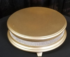 Rental store for 14  ROUND GOLD DIAMOND CAKE STAND in Johnson City TN