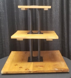 Rental store for 3 TIER WOOD STAND W  METAL PO   SQUARE in Johnson City TN