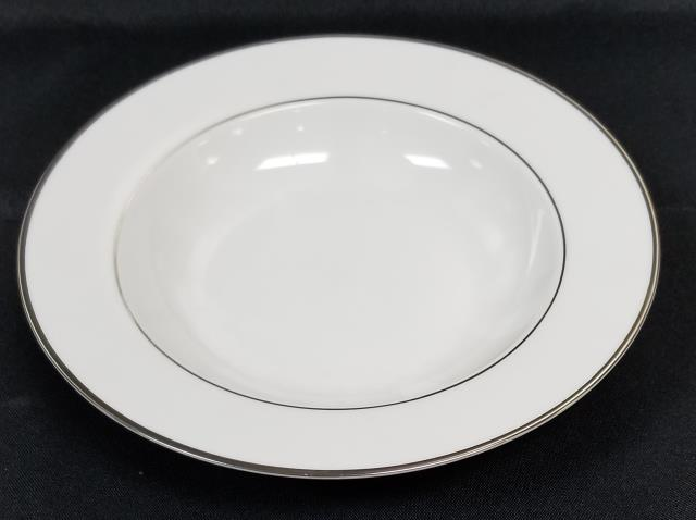 Where to find WHITE WITH SILVER BAND BOWL   LARGE in Johnson City