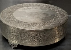 Rental store for 19  ROUND FOOTED SILVER CAKE STAND in Johnson City TN