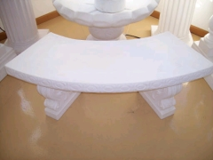 Rental store for MARBLE GARDEN BENCH 4  CURVED PLASTIC in Johnson City TN
